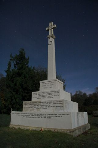 The War Memorial by Moonlight